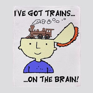 train_Brain2 Throw Blanket